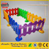 Hot sale colorful children fence with balls, wood type plastic kids fence for sale