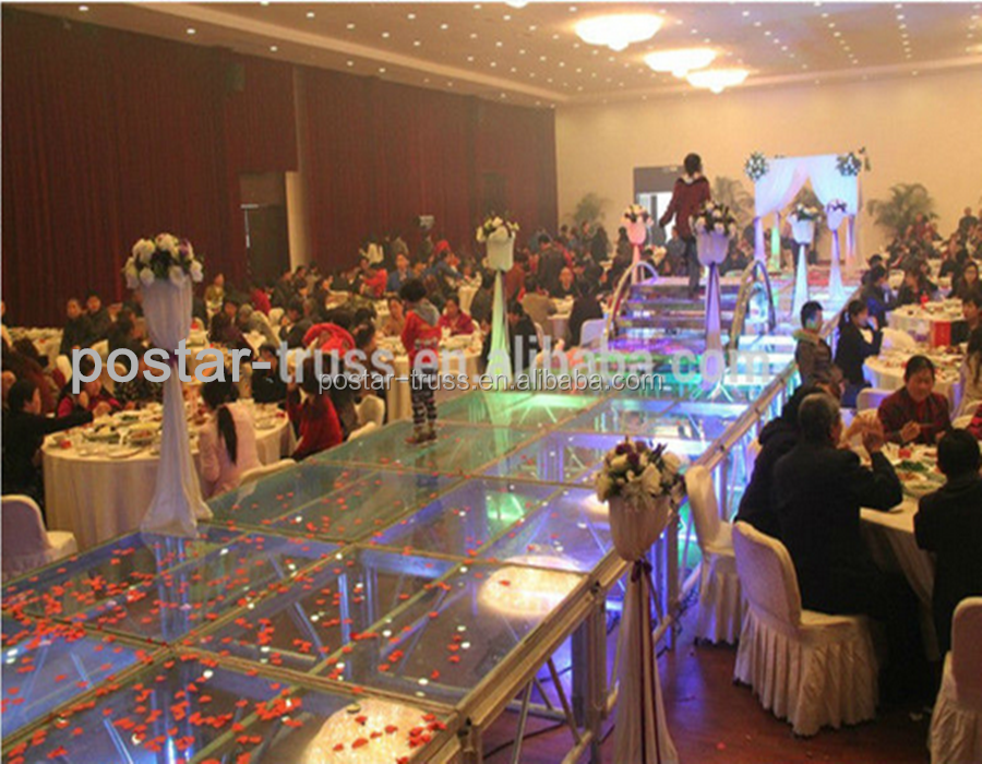 Quickly Install 4'x4' Frosted Acrylic platform wedding stage with Good price