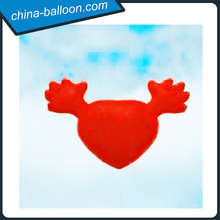 Lovely inflatable air balloon/Funny inflatable heart shaped balloon with hands for decoration