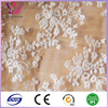 White Fancy Lace Fabric Nylon/ Polyester For Wedding Dress