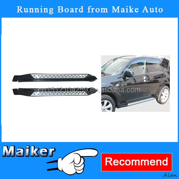 Exterior Accessories Aluminium alloy Running board for Mitsubishi Outlander EX2011+ Side Step auto spare parts