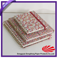 Various size custom composition notebook with fabric cover