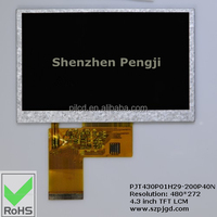 factory supply 4.3 inch TFT screen consumer electronic 480*272 ( PJT430P01H29-200P40N)