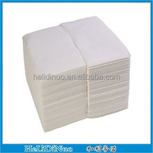 White dinner size linen-feel airlaid paper napkins