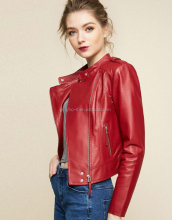 Women PU Leather Overcoat Casual Windbreaker Motorcycle Biker Jacket