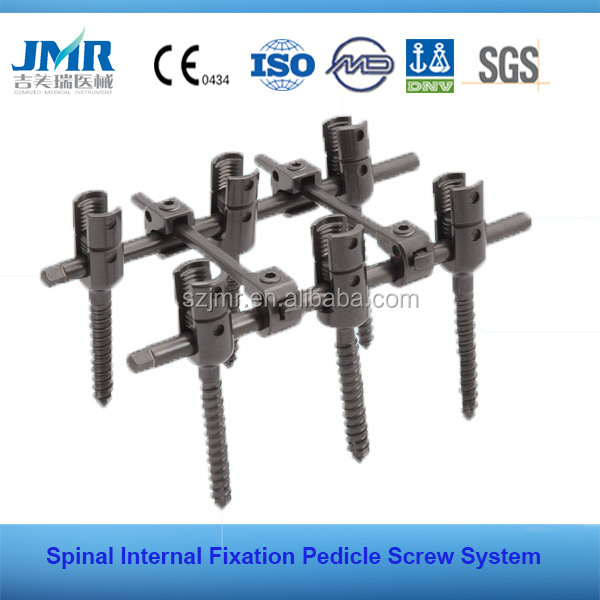 Surgical Implants Multi -Axial Pedicel Screw Spinal Screw Spinal Fixation System Pedicle Screw System Spinal Crosslink