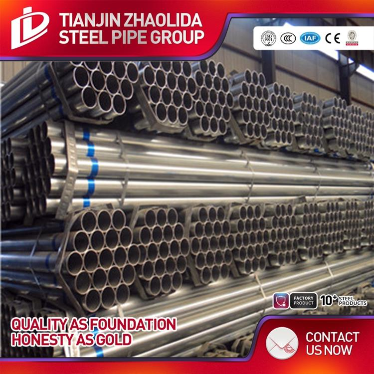 China standrad gi round steel tube for structure from tianjin manufacturer