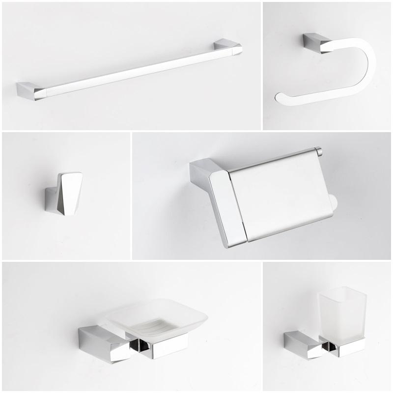 Square Design Modern Design Chrome Bathroom Set Accessories Buy