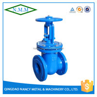 Cast Iron DIN3352 Rising Stem Wedge Gate Valve, PN10, Z41T-10
