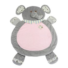 Plush animal baby play mat elephant play mat soft plush play mat