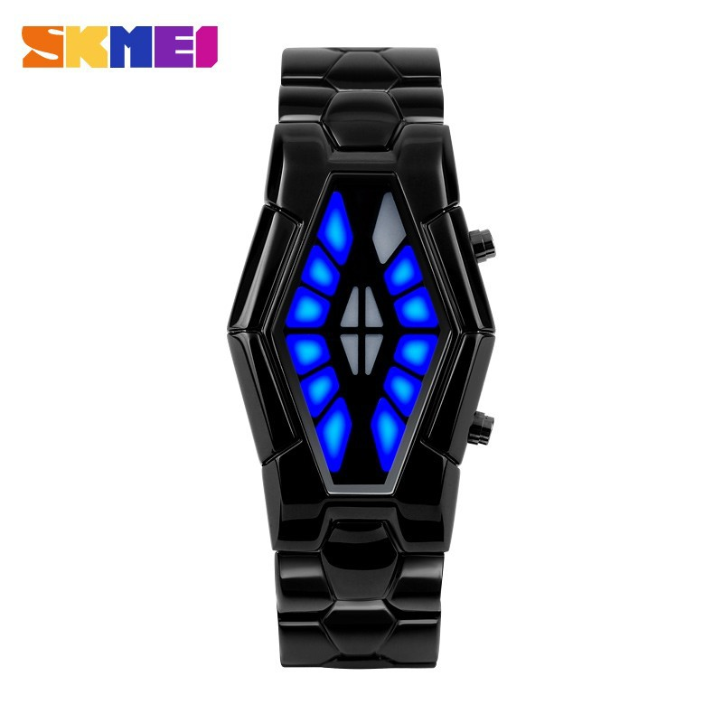 New arrival Japanese design snake iron samurai led watch