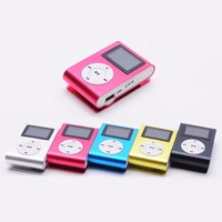 Wholesale Mini Clip MP3 Player Support 32GB Micro TF/SD Card Slot Sports MP3 Music Player With LCD Screen