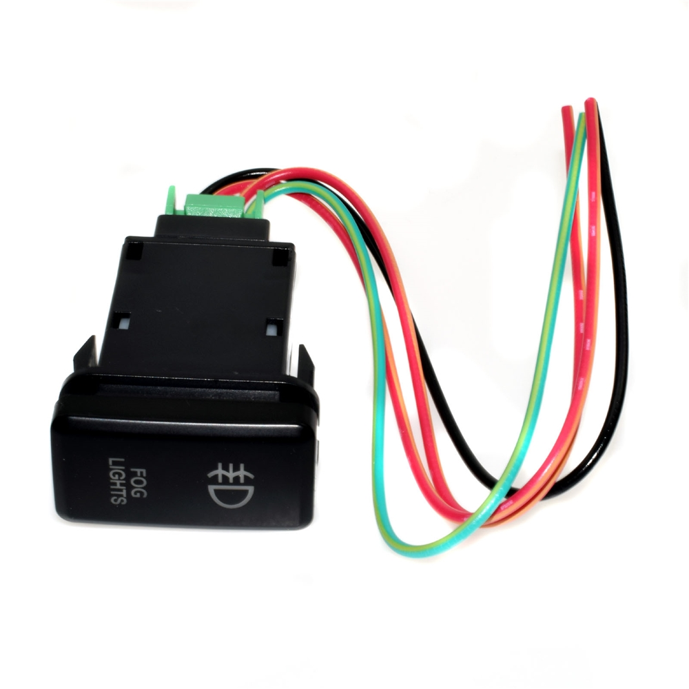 Wholesale Hilux Toyota Parts Online Buy Best Wiring 12v Red Led Fog Light Push Switch Button With Wires For Strongtoyota