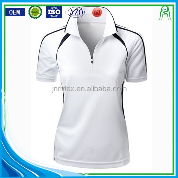 Wholesale custom women cotton polyester blend sports polo for Poly blend t shirts wholesale