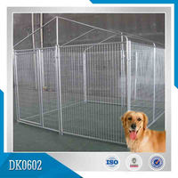 Nice Quality Different Size Hot dipped Galvanized Dog Kennel, Dog Running House