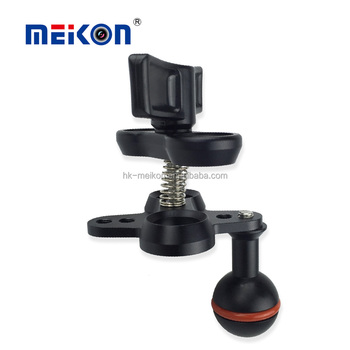 Meikon double ball clamp lights mounts clip for diving light mount systerm