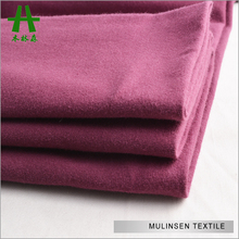 Mulinsen Textile Soft Touched Plain Dyed Single Jersey 40s Combed Cotton Knit Fabric Suppliers