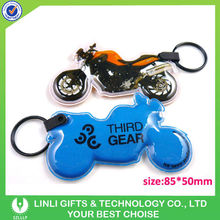 New style motorcycle led pvc key ring, custom pvc keychain, light pvc keychain