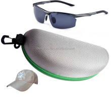 Top Selling Green Oxford Fabirc EVA Cheap Cases for Polarized Fishing Glasses with Zipper