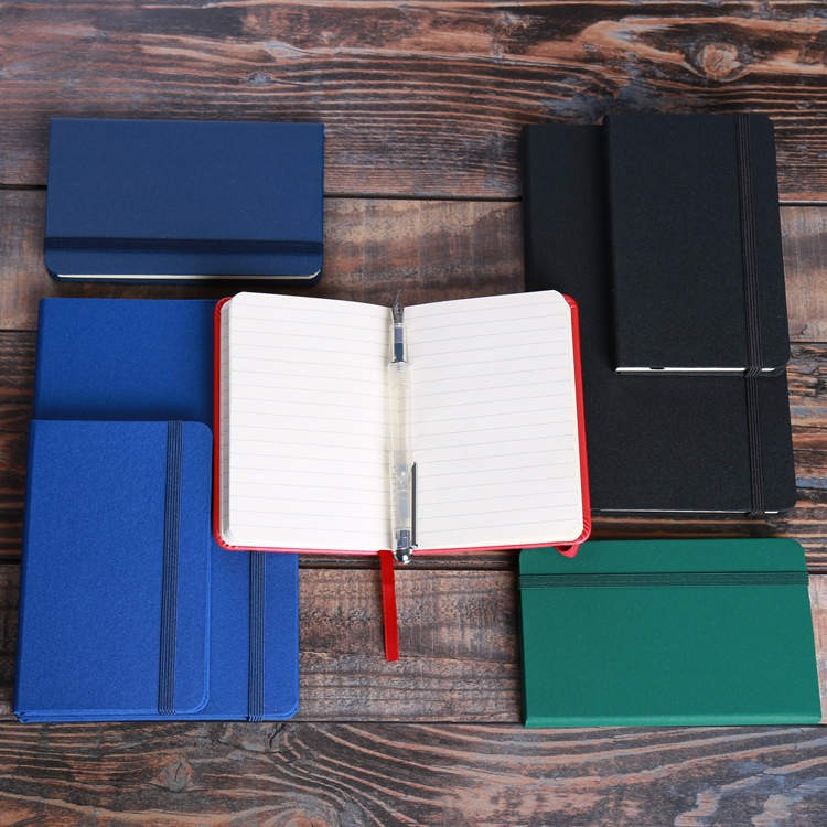 mini notebook with pen A5 pu cover notebook business exquisite leather notebook cover