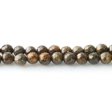 Cheap B Grade Bronzite Faceted Round Beads For Jewelry Making