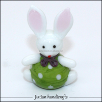new coming colored glass animal figurines
