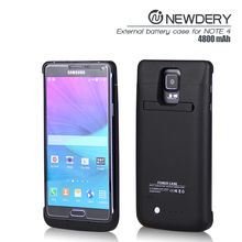 new product funny electronic for samsung galaxy note 4 power case with holder charger for galaxy note4 leather stand power cases
