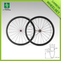 Carbon bicycle wheelset 38mm bicycle carbon wheels 700c carbon road bike wheelset