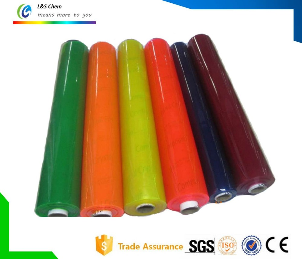 Clear or Colored Soft PVC Film for Decoration and Packaging