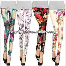 China Manufacturer 2016 New Arrival High Quality Fabrics For Carnival Rose Floral Print Galaxy Fashion Women Leggings