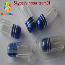 Female Enhancement Capsule Container/Sex Pills Packaging Bullet clear capsule bottle/container/bullet shell with