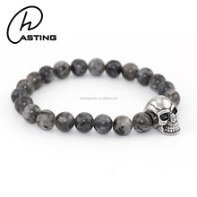2017 Men Adjustable Skull Beads Natural Lucky Stone Bracelet