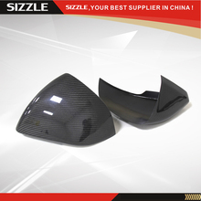 Stick On Carbon Fiber Side Mirror Cover With LED Euro Model For Ford Mustang 2015+