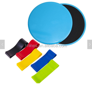 Core Sliders Gliding Discs Resistance Band Exercise Loop Bands