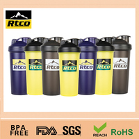 GYM plastic protein shaker wholesale platic cups with lids