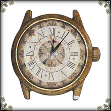 French aged digital wall clock for kitchen wall hanging