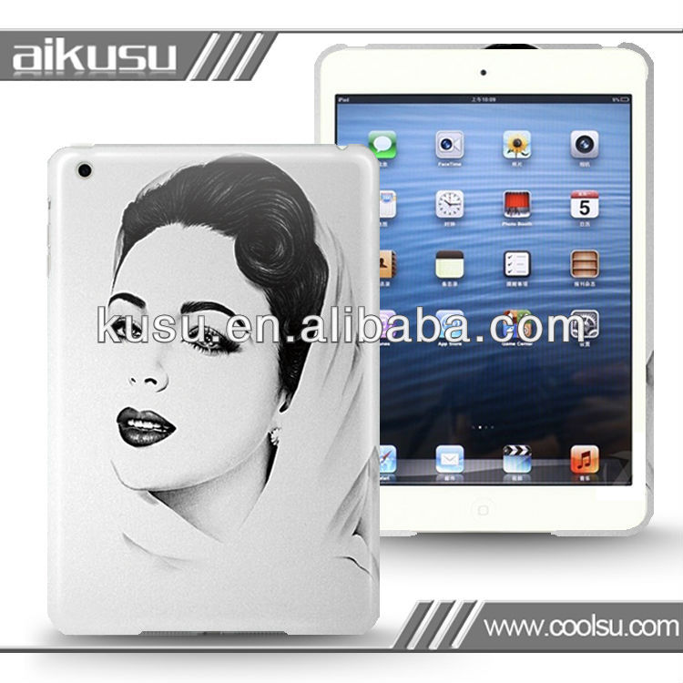 Beauty design 3d protective case for mini ipad