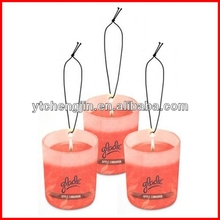 Candle Shape with color filling funny car air freshener