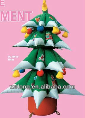 small inflatable christmas tree indoor