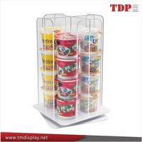 Supermarket Instant noodles acrylic display counter top food display