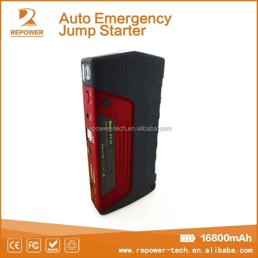 2016 hot selling popular portable newest car battery jumper cables 16800mAh car jump starter/mini car booster