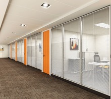 Fire-proofing prefabricated tempered glass office partition wall material