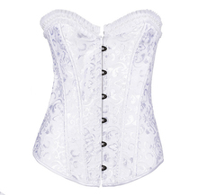 Factory wholesale 6xl waist training open bust corset steel boned white slimming corset