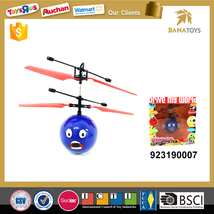 Lovely emoji toy flying ball helicopter