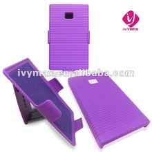 holster combo case with kickstand for E400 optimu L3