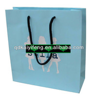 Customized Printing Blue Paper Gift Bag