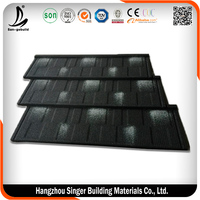 Zincalumed Steel Tile , Stone-coated Metal Roofing Tiles Long Service Life