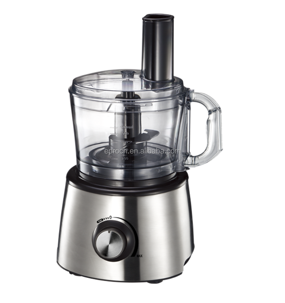 Multifunctional food processor with 800w power and inox housing