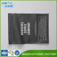 Custom order Plastic Material Ziplock Poly Bag Black Plastic Zipper Bags Wholesale
