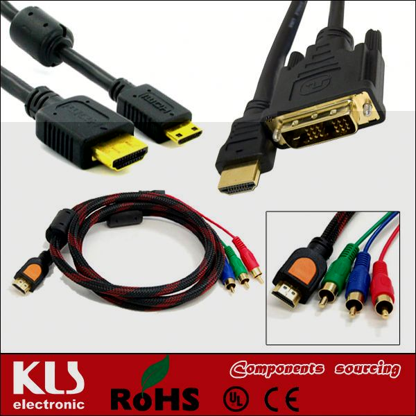 hdmi male to 3 rca video audio av cable UL CE ROHS 113